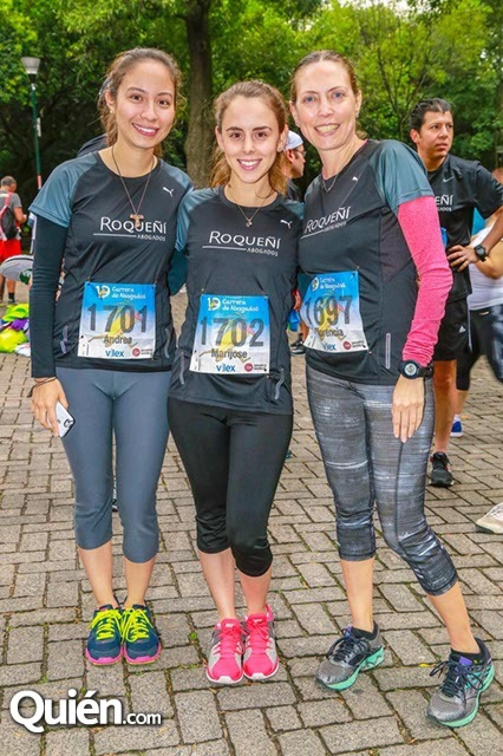 Andrea Godínez,María José Bautista y Florencia Zorrilla