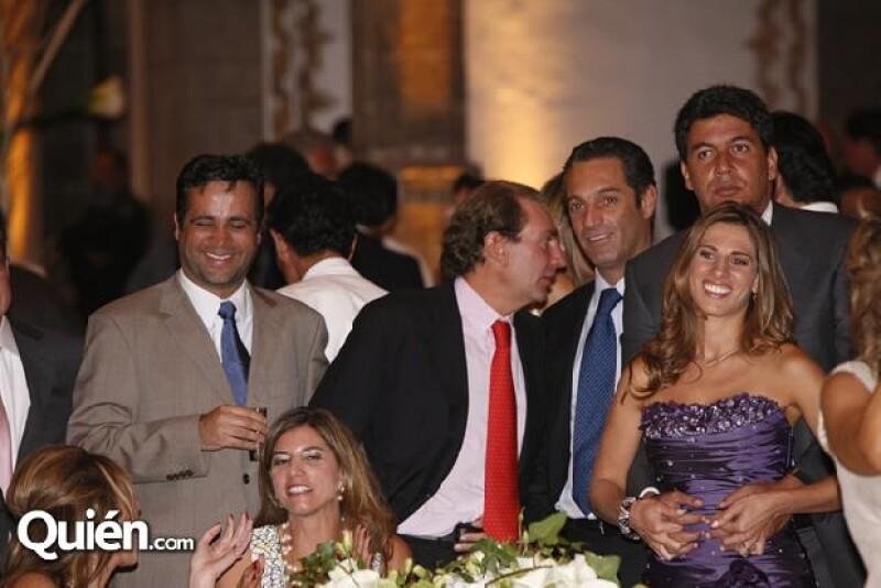 Bobby Slim, Carlos Slim Domit, Arturo Elías Ayub y Johanna Slim