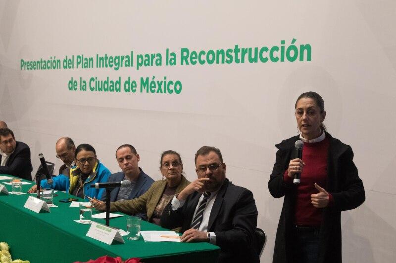 Claudia Sheinbaum presenta informe Reconstrucción