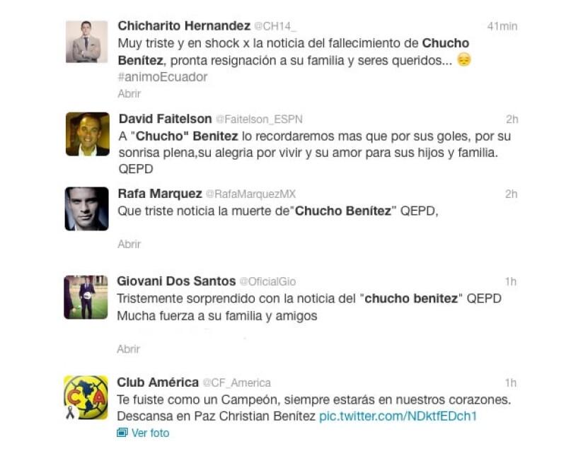 Chihcarito Hernández escribió un mensaje en Twitter, al igual que otros jugadores.