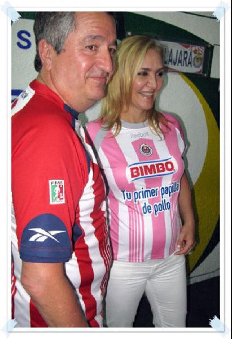 Jorge Vergara y Angélica Fuentes obviamente le van a su equipo: el Guadalajara.