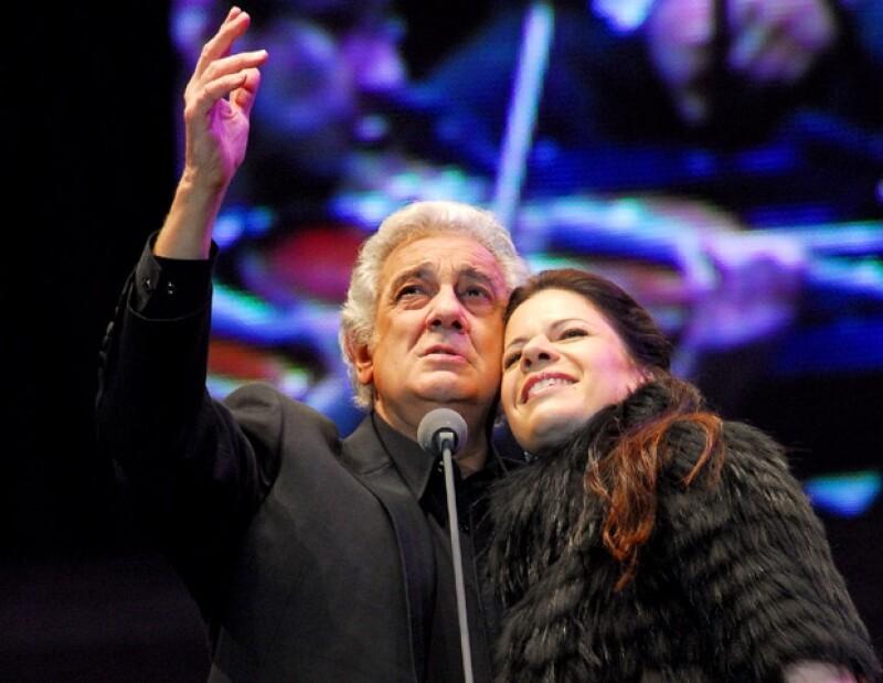Plácido Domingo estuvo acompañado por la soprano Ana María Martínez.