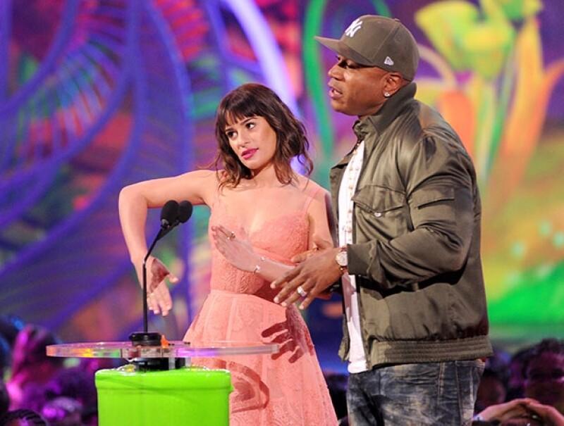 Lea Michele y LL Cool J.
