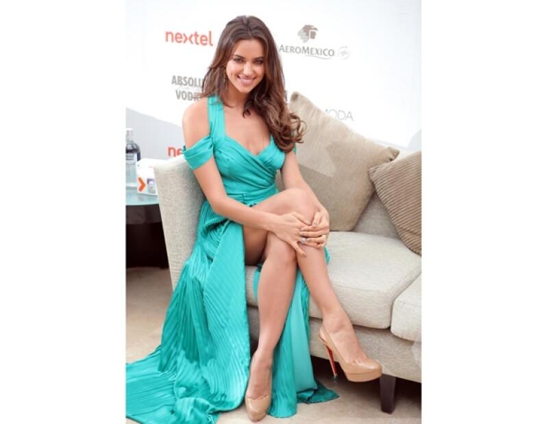 La modelo rusa y novia de Cristiano Ronaldo se encuentra en Cancún como invitada especial del fashion show Cancún Moda Nextel. Se dijo encantada con la calidez de los mexicanos.