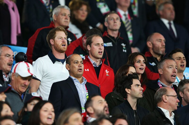 Después de ver las caras que hicieron los príncipes de Inglaterra, ya no nos queda duda sobre cuál es su deporte favorito.