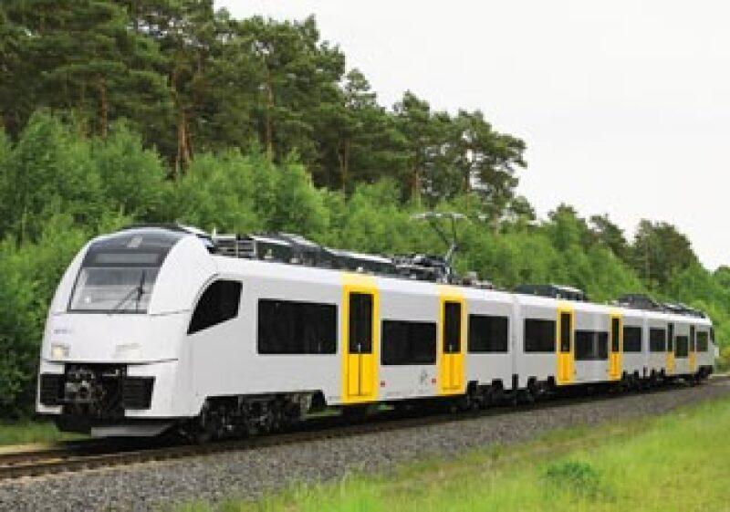 El modelito. El tren que se utilizará en el proyecto del Interurbano de Guanajuato será un Siemens. (Foto: Cortesía Sotrig)