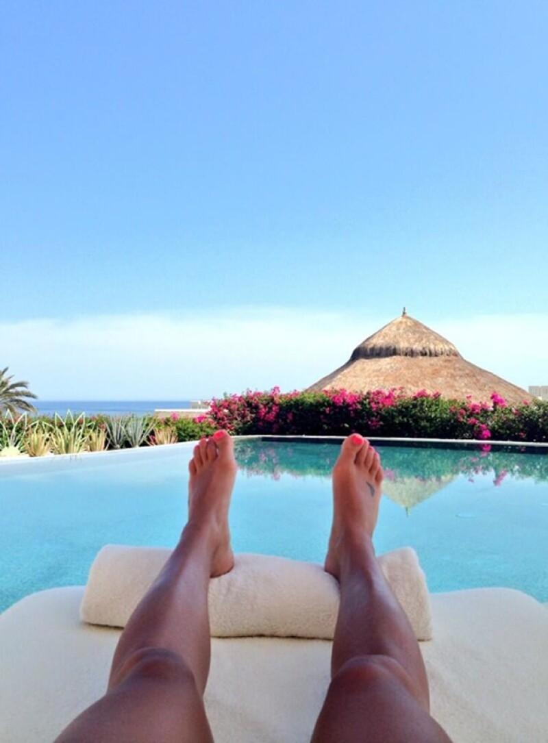 """La estrella de """"Glee"""" pasó unos días en México y compartió varias fotos de su viaje a la playa, donde disfrutó del sol en sexys bikinis."""