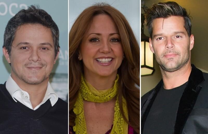 Alejandro Sanz, Andrea Legarreta, Ricky Martin.