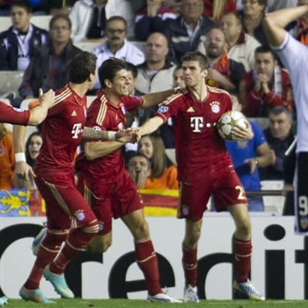 Valencia y Bayern empatan en la Champions