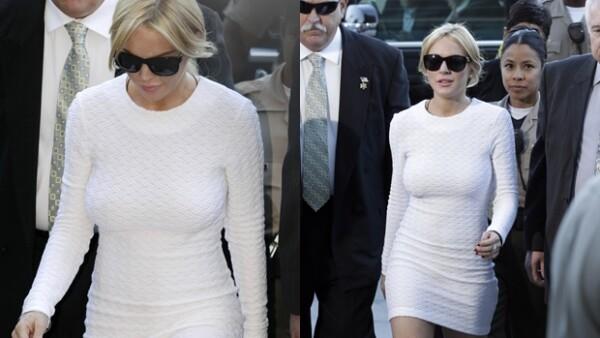 Con tantos cargos en su contra, no es extraño ver a Lindsay frente a los jueces: eso sí, el estilo no lo pierde nunca.
