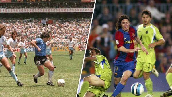 Diego Armando Maradona y Lionel Messi
