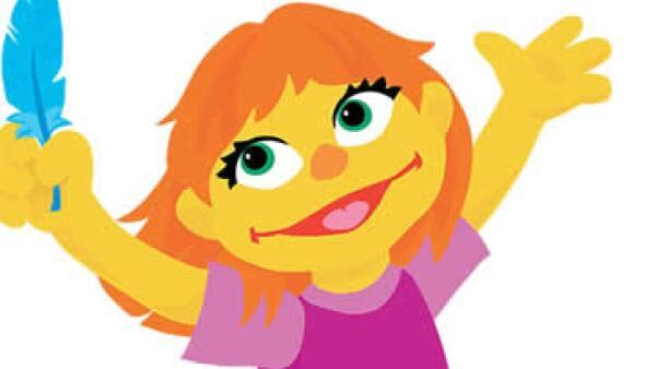 Julia es un personaje que tiene autismo y el de más reciente introducción en la familia de Plaza Sésamo. (Foto: Cortesía/Sesame Workshop  )