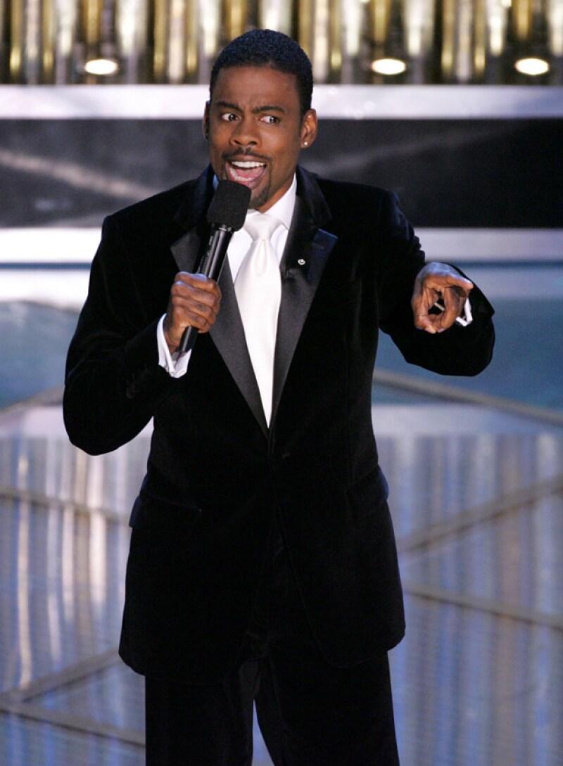 Chris Rock cuando condujo los premios Oscar en el 2005.