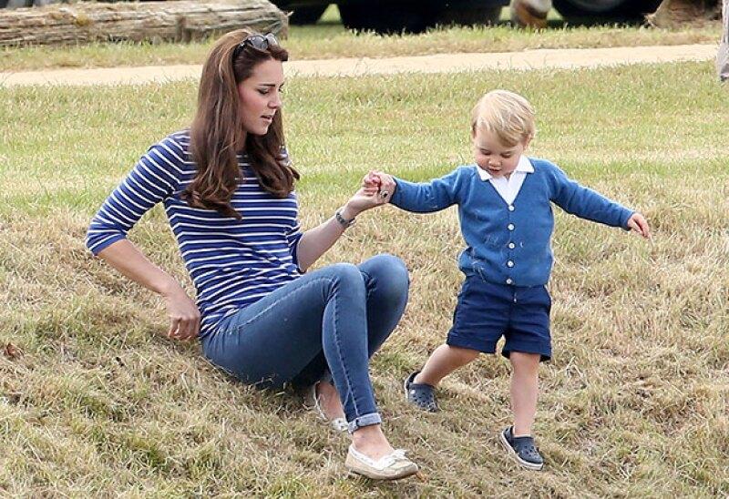 Los partidos de polo son los lugares en donde Kate y George disfrutan de su tiempo juntos, de la forma más natural.