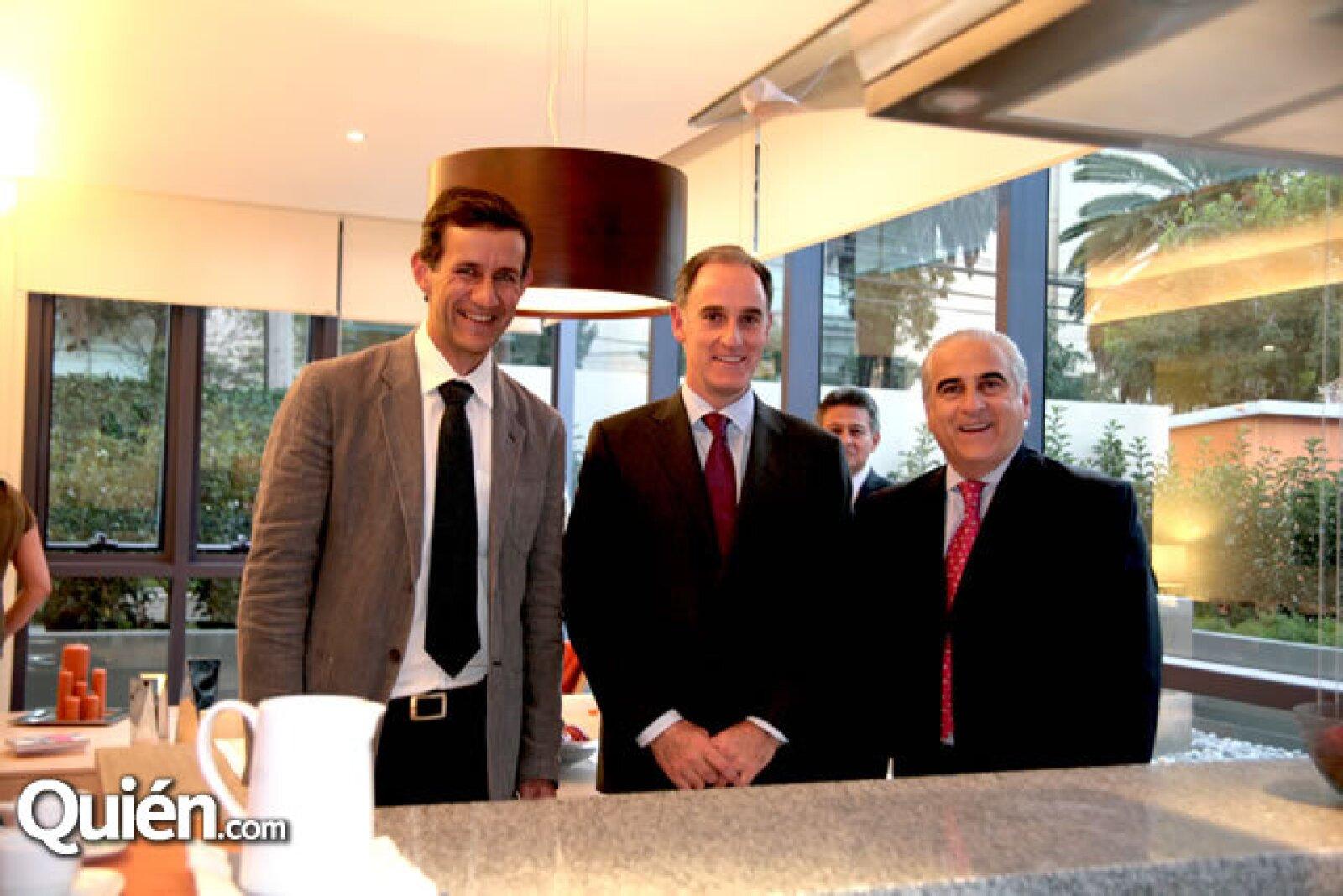 Víctor Legorreta, Jaime Alverde y Ángel Losada