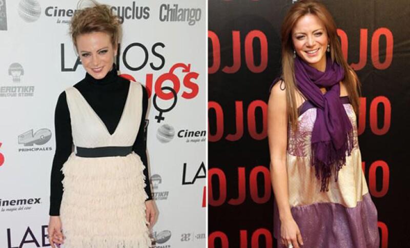 Durante las alfombras rojas de su película Labios Rojos, también utilizaba diferentes looks.