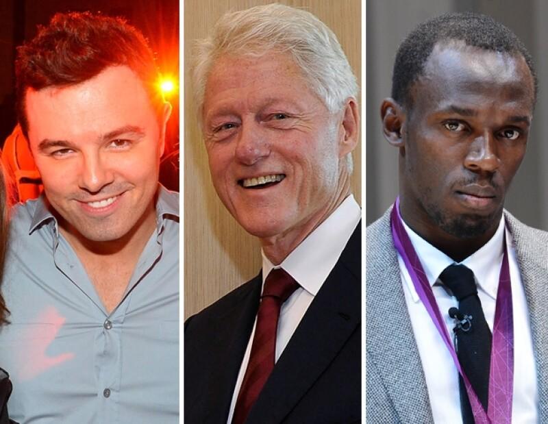 Seth MacFarlane, Bill Clinton y Usain Bolt