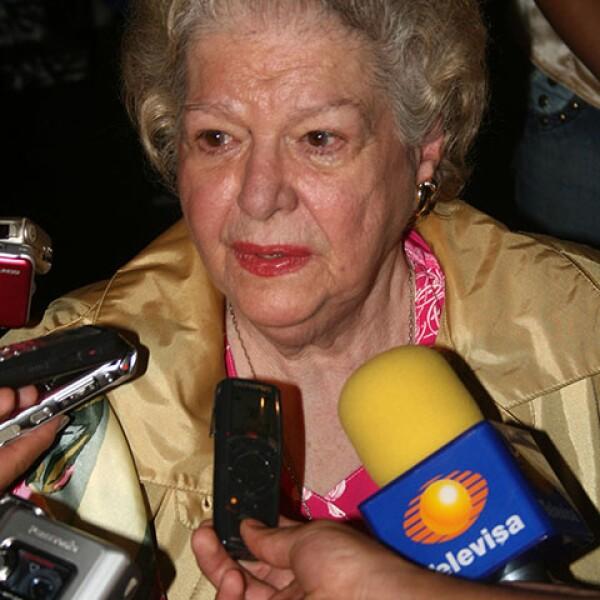 En entrevista por las 100 representaciones de la obra Carlota Emperatriz en el Teatro Hidalgo.