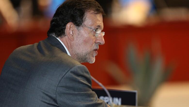 Mariano Rajoy, presidente del Gobierno español, durante la primera sesión plenaria del G20 este lunes.