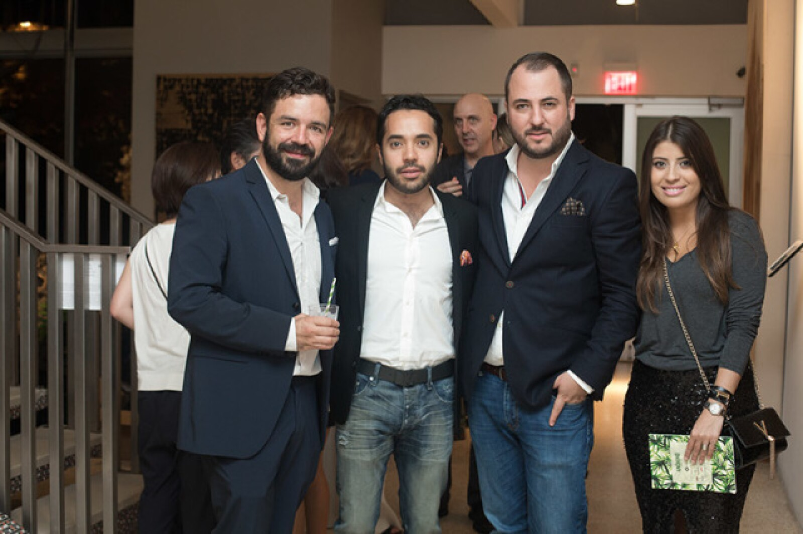 Alejandro Serratos,Alex Bracho,Víctor Martínez y Lisette Pérez Coutiño
