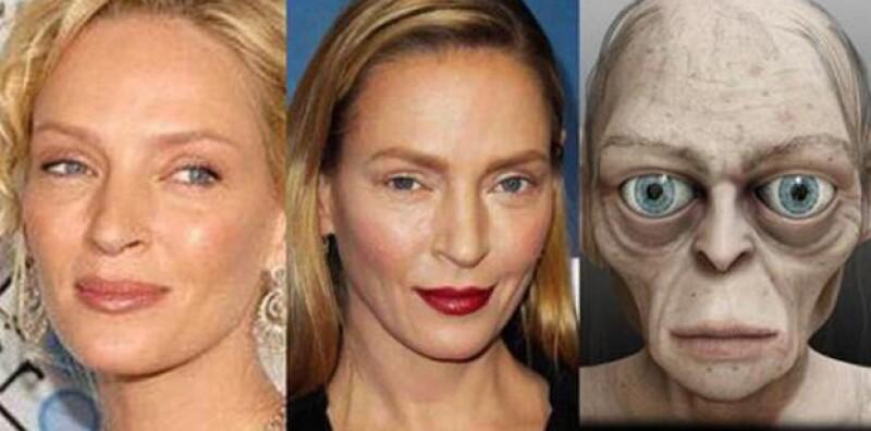 Hace poco fueron algunas famosas por sus looks en los Grammy, ahora Uma Thurman es la nueva víctima de los memes.