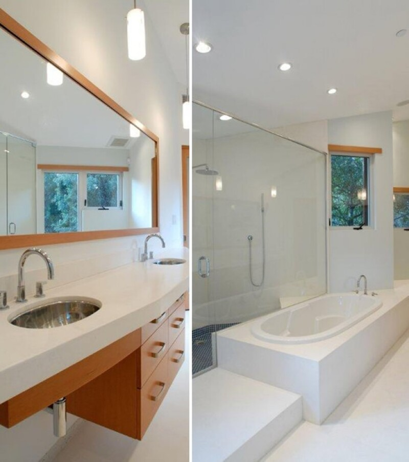 Este es uno de los tres baños con los que cuenta la casa.