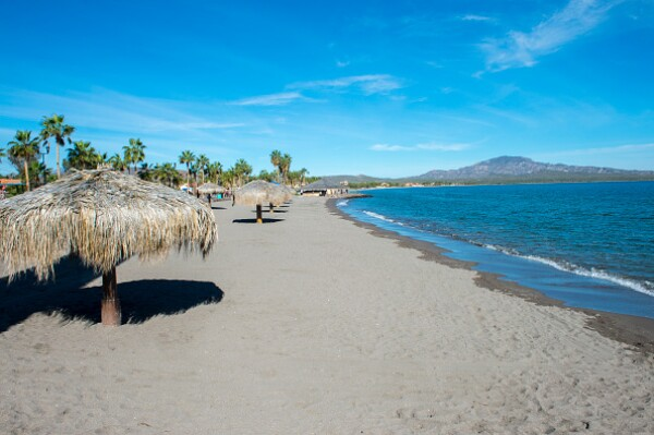One of the beaches of the town of Loreto, Sea of Cortez,