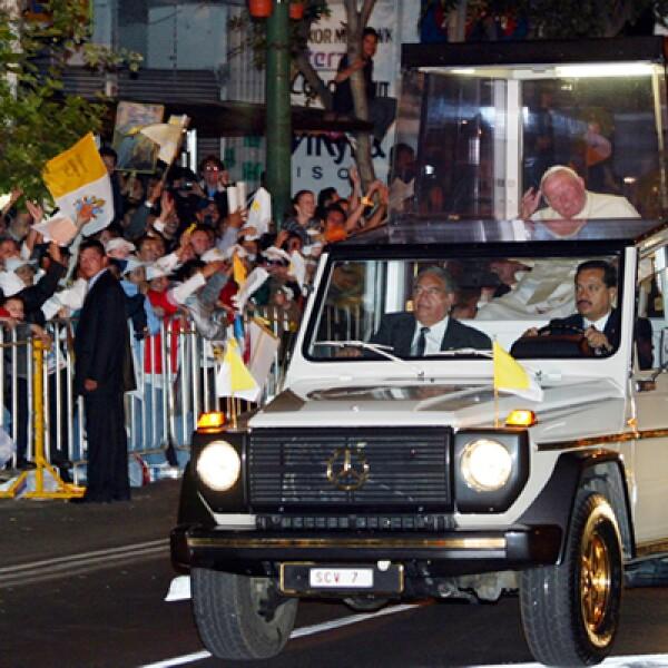La última visita de Juan Pablo II a la capital fue en 2002, tres años antes de su muerte.