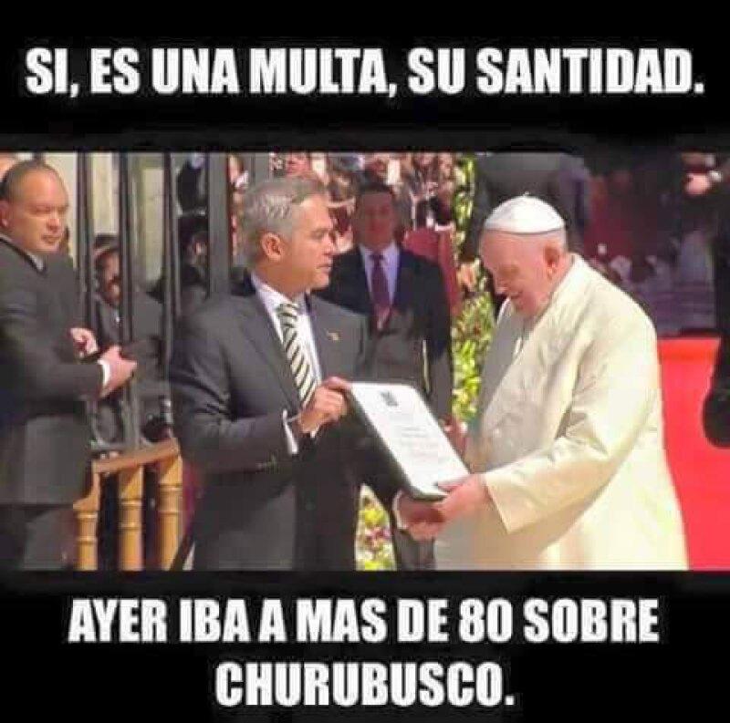 Ni el Pontífice se salvó de los memes en su primera visita al país. Te mostramos los más compartidos en redes.