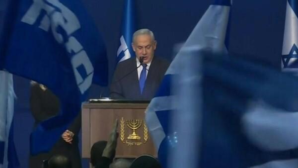 """Netanyahu clama una """"victoria gigantesca"""" en las elecciones en Israel."""