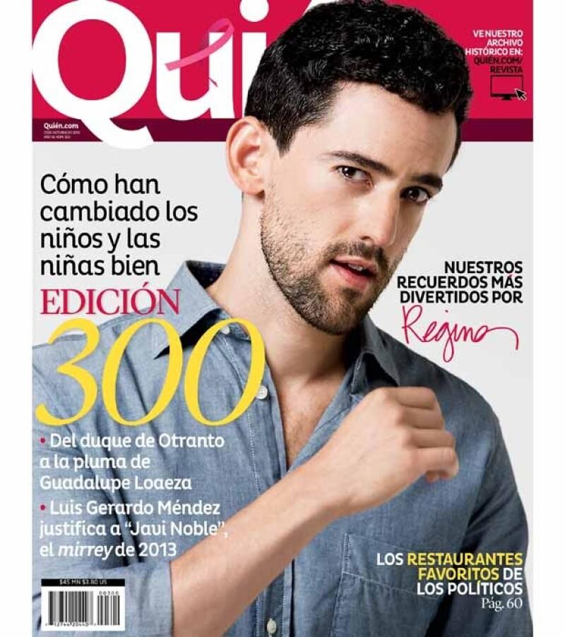 Luis Gerardo engalana la portada de la nueva Quién en donde festejan sus 300 ediciones.