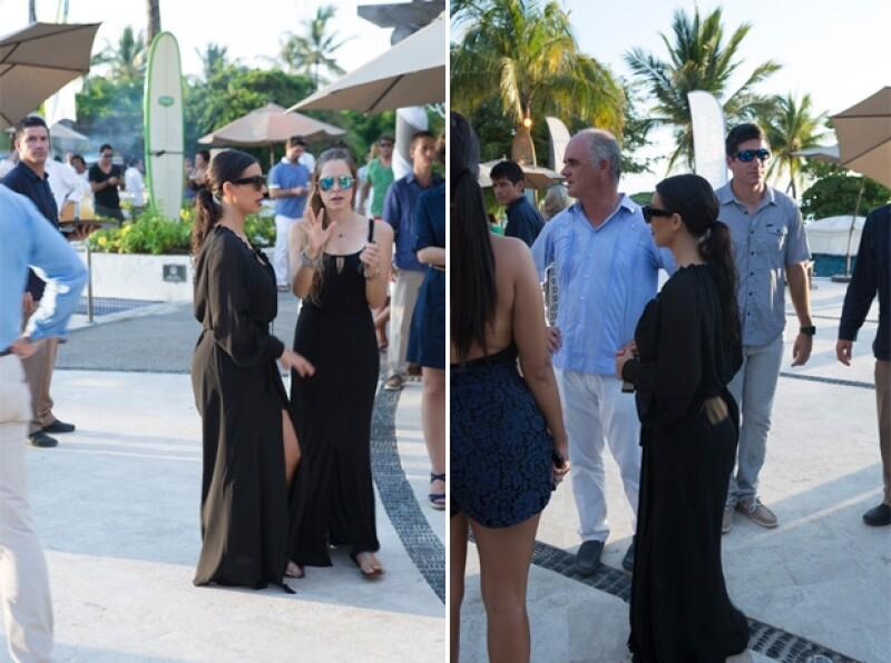 La socialité pasó una tarde el club de playa del hotel St. Regis de Punta Mita hace una semana donde saludó a algunos invitados al Punta Mita Beach Festival.