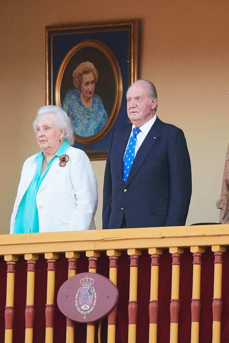 La infanta Pilar y el rey emérito Juan Carlos