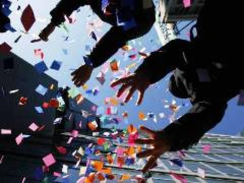 Los tradicionales festejos en Time Square serán encabezados por Hillary Clinton. (Foto: Reuters)