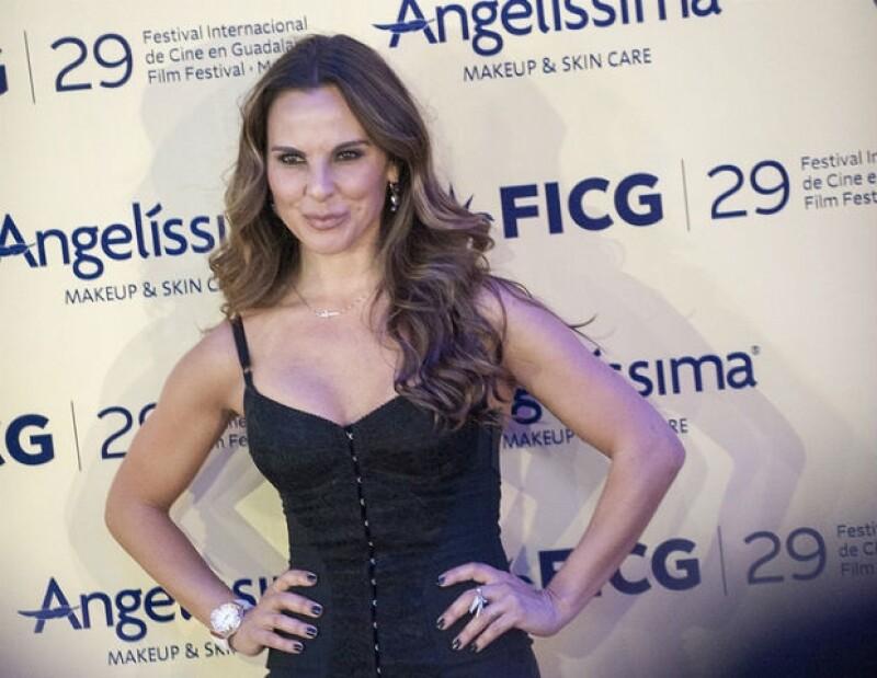Kate del Castillo llegó con película nueva al FICG.