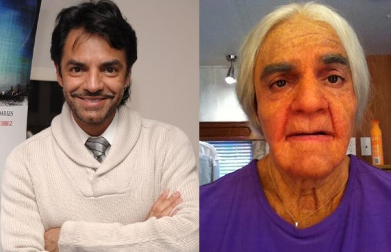 Eugenio Derbez se convirtió en una anciana.