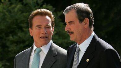 Arnold Schwarzenegger y Vicente Fox Quesada