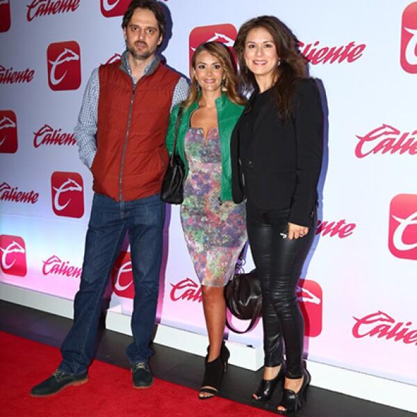 Pablo Grosso, Carmen Becerra y Marcia Coutiño