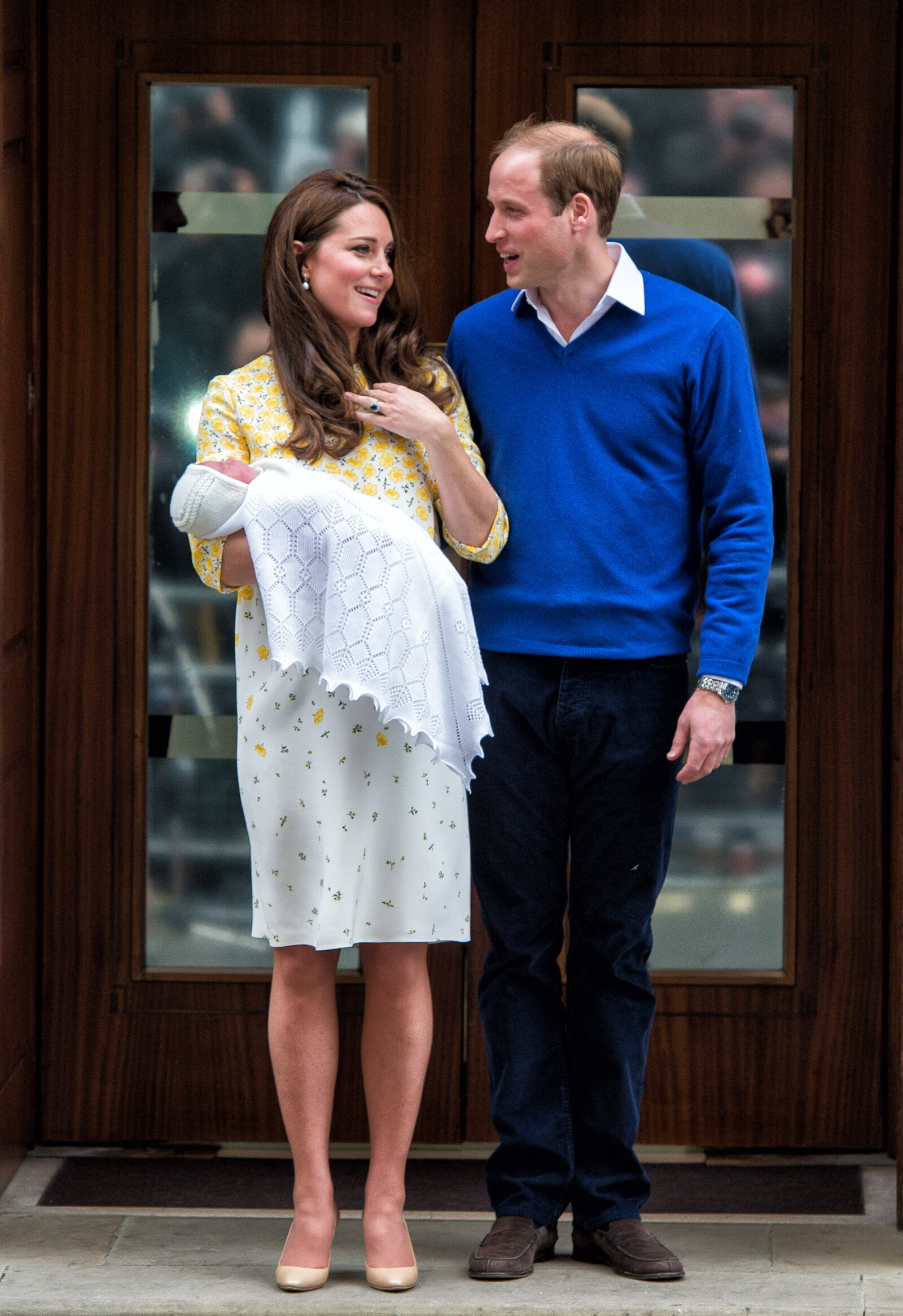 The Duke And Duchess Of Cambridge Depart The Lindo Wing With Thier Second Child