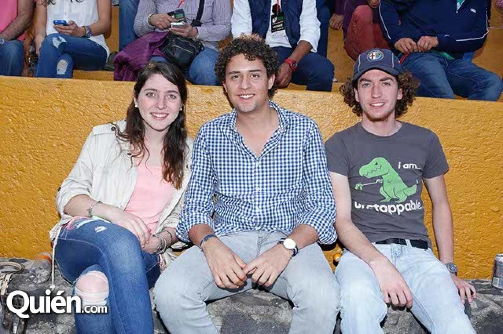 Michelle Turner,Daniel Dopico y Javier Hernández