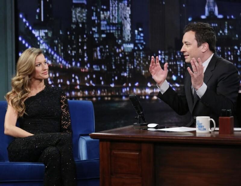 """Gisele Bundchen y Jimmy Fallon se conocieron hace 10 años en la filmación de la película """"Taxi""""."""