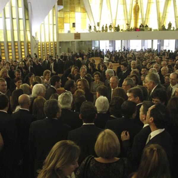 En una misa oficiada por su primo, Lorenzo Zambrano fue recordado en la Iglesia de Fátima.