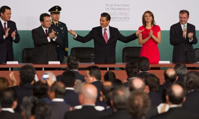 El presidente Peña Nieto presentó este lunes el Plan Nacional de Desarrollo. (Foto: Notimex)