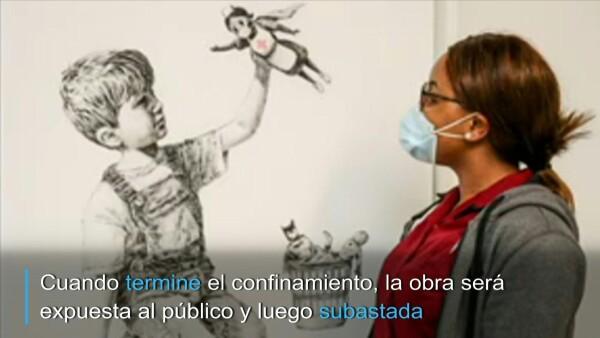 Banksy rinde homenaje al personal sanitario británico