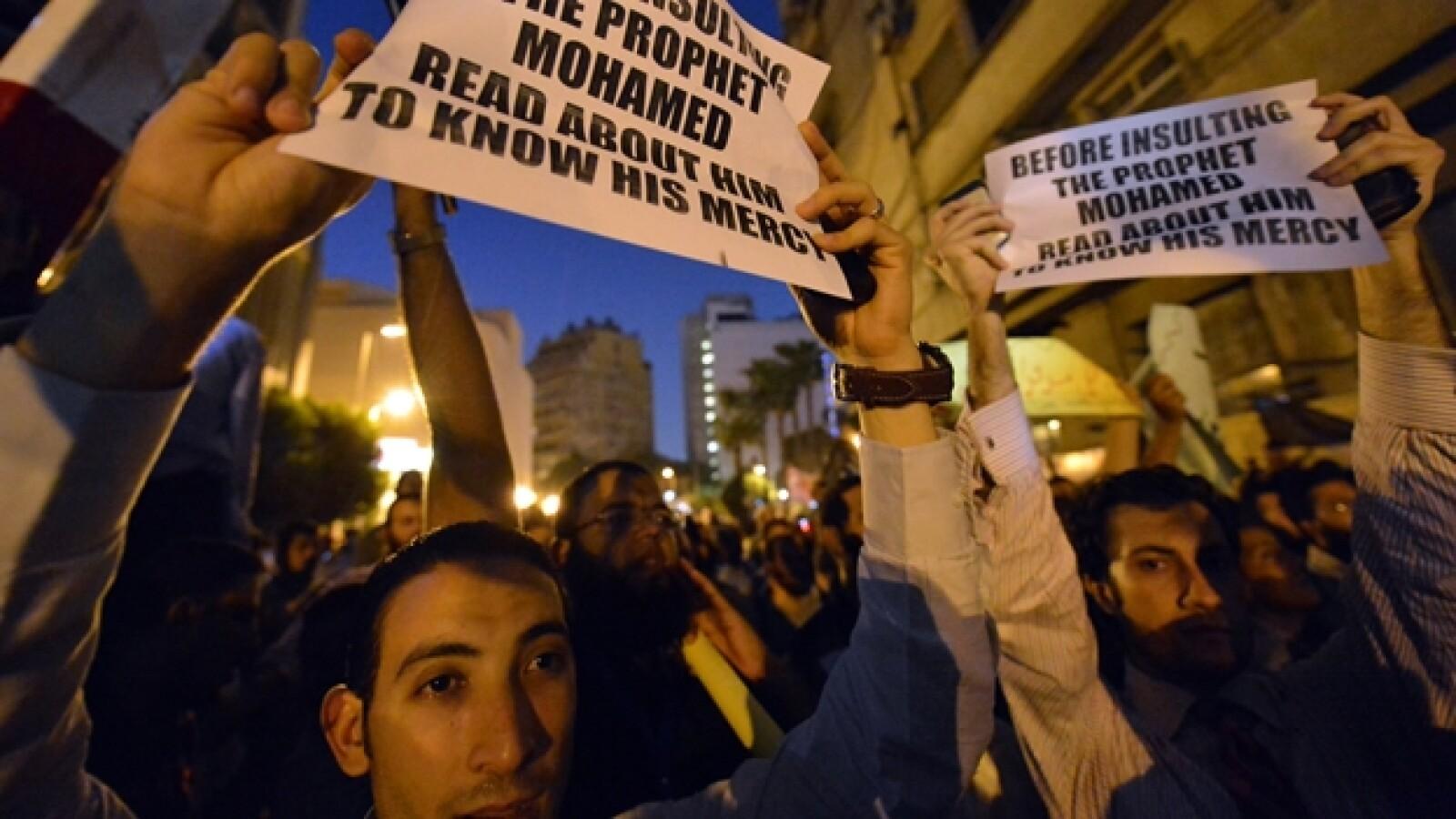 protesta embajada de EU en Egipto
