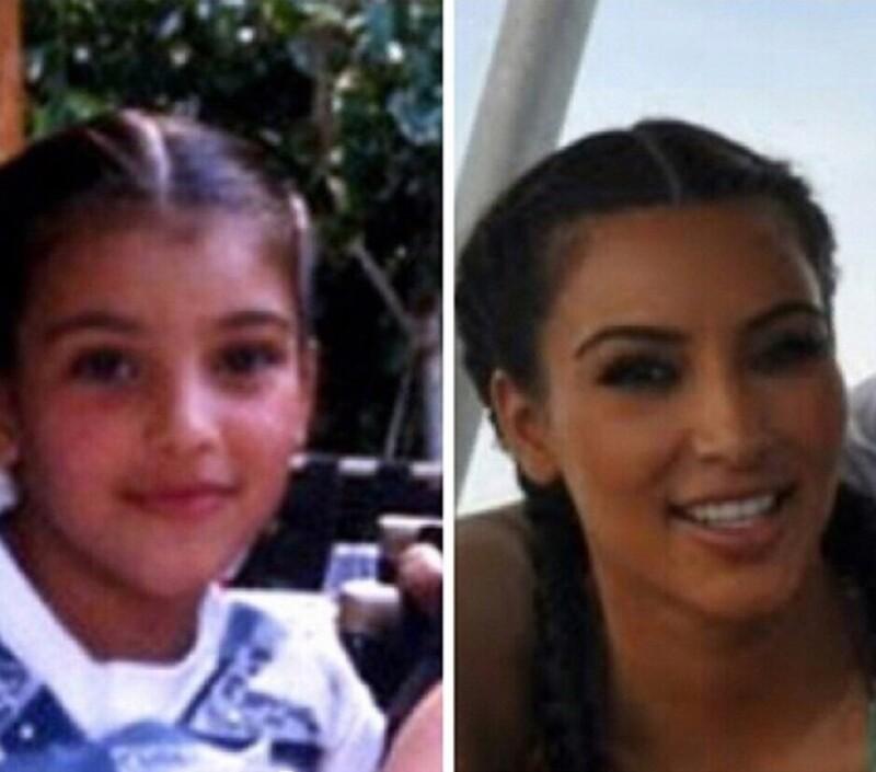 La socialité publicó una imagen doble en Instagram de un peinado que solían hacerle cuando era pequeña, mismo que aún a sus 30 se sigue haciendo.