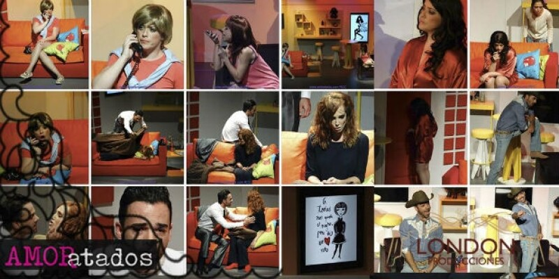 """""""Amoratados"""" estuvo nueve meses en cartelera, obra en la que también participaron Claudia Lizaldi, Fran Meric y Ulises de la Torre."""
