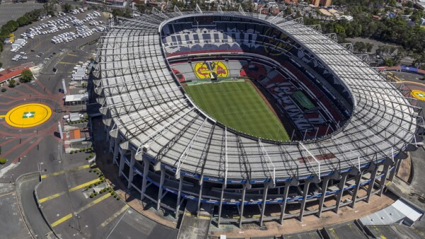 Aerial view of aztec stadium in Mexico City