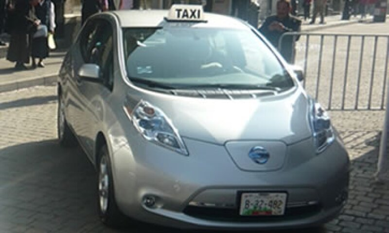 La Ciudad de México es la primera en el mundo en contar con taxis ecológicos de la marca Nissan Leaf. (Foto: Cortesía Nissan)