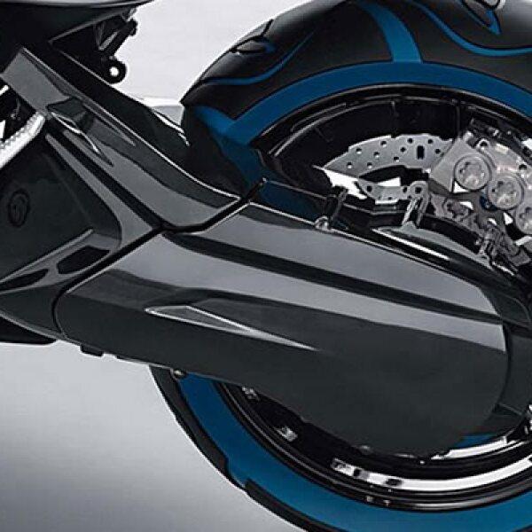 """El diseño del Concept C se asemeja al Suzuki Burgman 400, pero con en el caso de BMW toma los elementos de su auto Efficient Dynamic, dominado por los colores gris, negro y azul, que de paso le ponen a tono del """"remake"""" de la película TRON."""